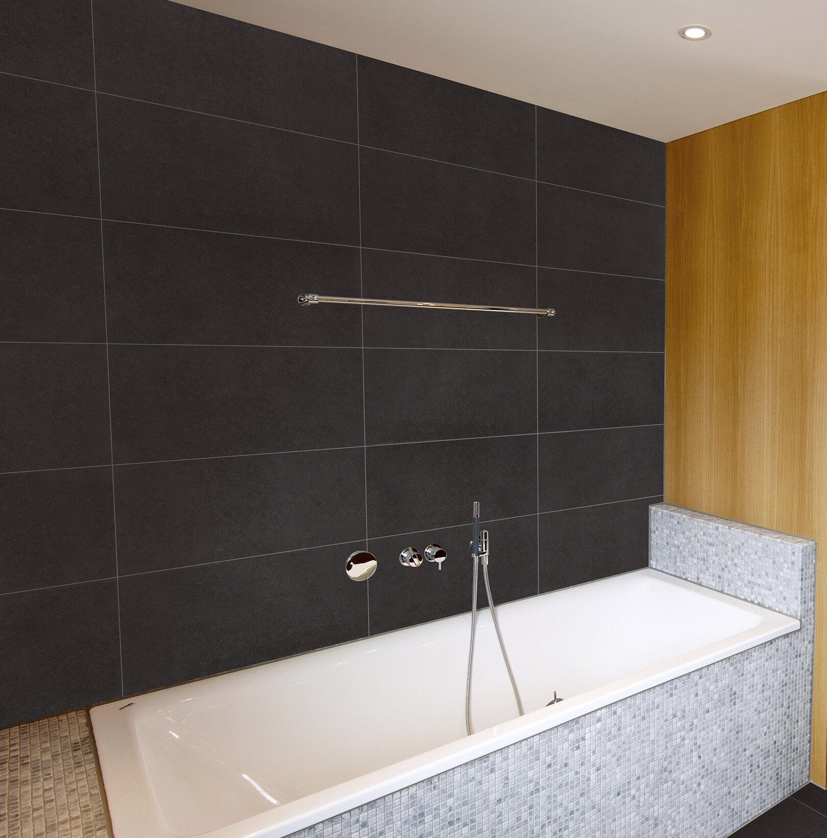 Msi Dimensions Graphite 12 X 24 Porcelain Field Tile In Gray Reviews Wayfair