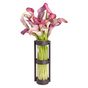Elegant Cylinder Glass Vase (Set of 2)