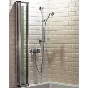 1400 mm x 800 mm Folding Framed Bath Screen by Cassellie