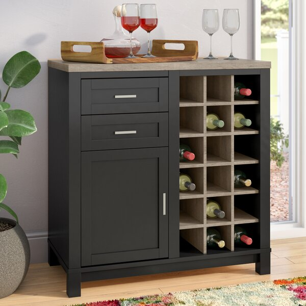 Mercury Row Callowhill Bar Cabinet With Wine Storage