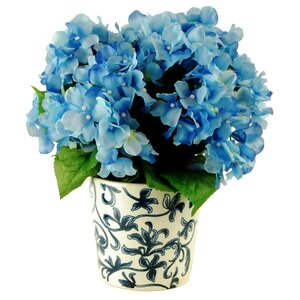 Hydrangeas in Ceramic Vase