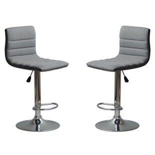 Mance Adjustable Height Bar Stool (Set of 2)