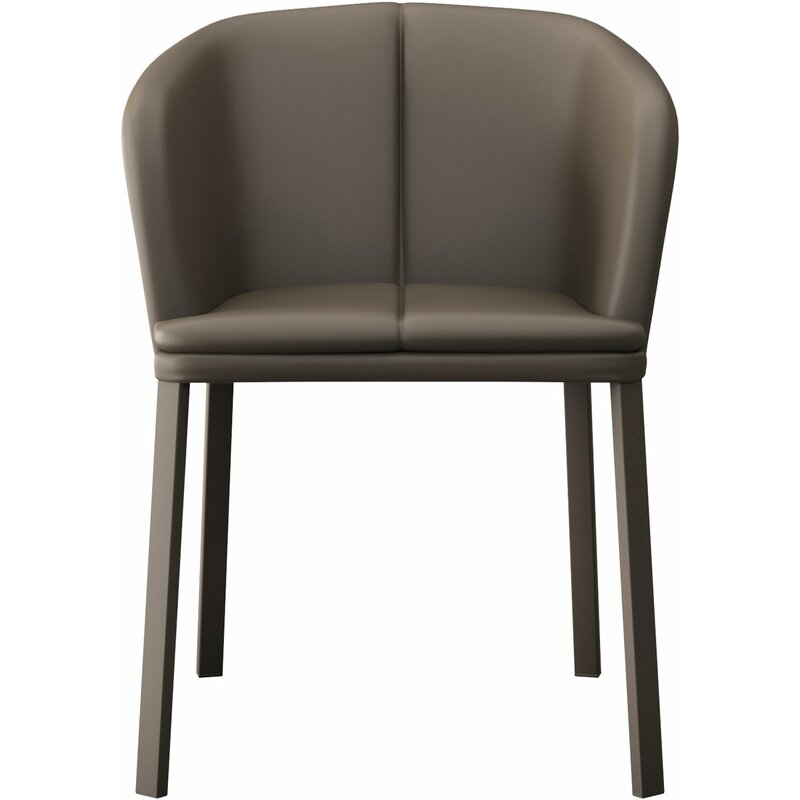 Como Genuine Leather Upholstered Dining Chair
