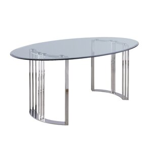 Glass Oval Kitchen Dining Tables Youll Love Wayfair