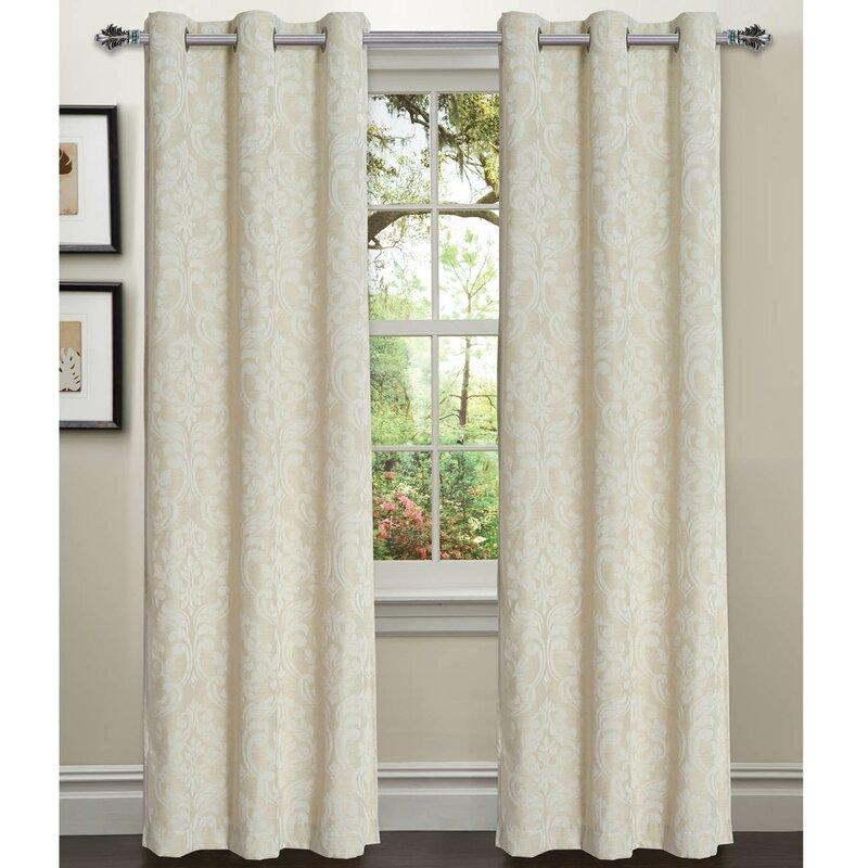 elinor linen damask sheer curtain panels