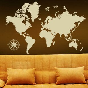 Large world map wall decal wayfair detailed world map wall decal gumiabroncs Choice Image