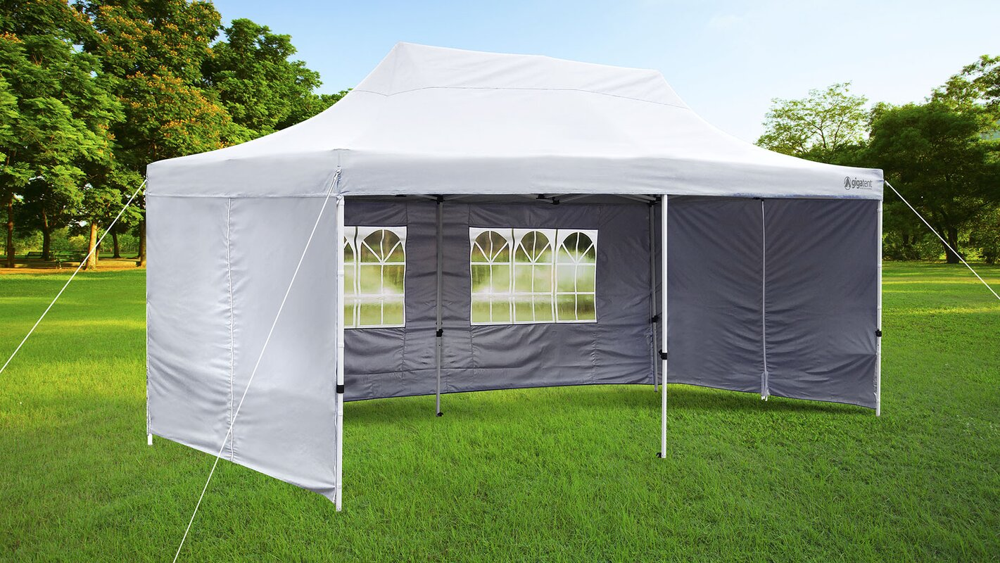 10 Ft. W x 20 Ft. D Steel Party Tent & GigaTent 10 Ft. W x 20 Ft. D Steel Party Tent u0026 Reviews   Wayfair