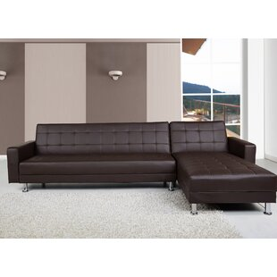 Faux Leather Sofa Beds You\'ll Love | Wayfair