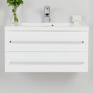 80 cm Wandbefestigter Waschbeckenunterschrank Alatna von Belfry Bathroom