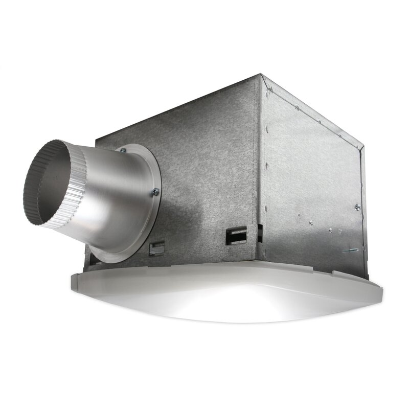 Nuvent NuVent High Efficiency Bathroom Fan with Fluorescent Light ...