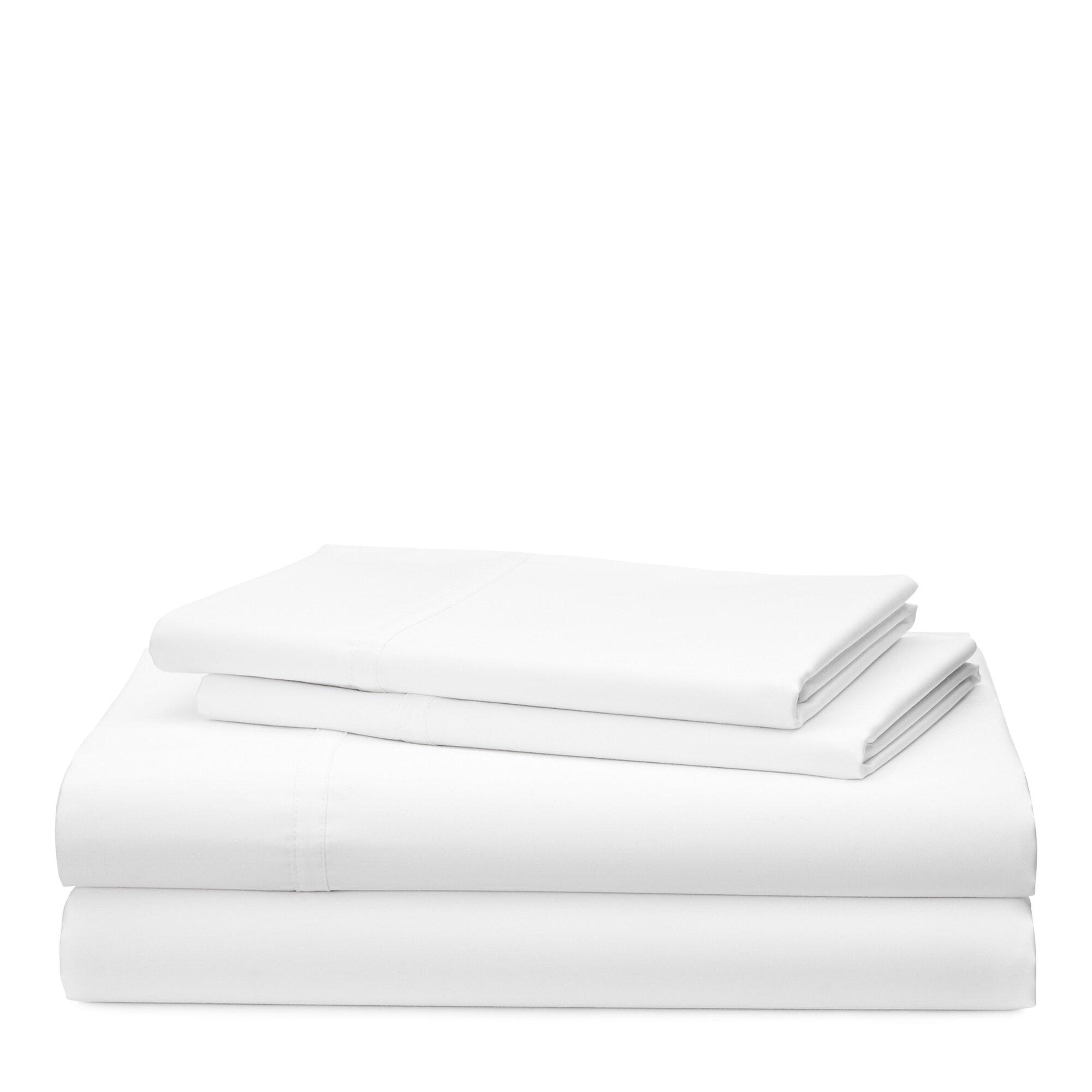 Lauren Ralph Spencer Solid 475 Thread Count 100 Cotton Sheet Set Reviews Wayfair