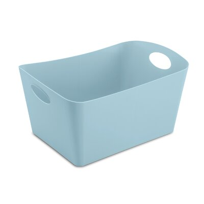 Turn on the Brights Rectangular Plastic Storage Bin Color: Cotton White, Size: 5.9 H x 11.7 W x 8 D