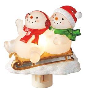 Snowmen on Sleigh Night Light