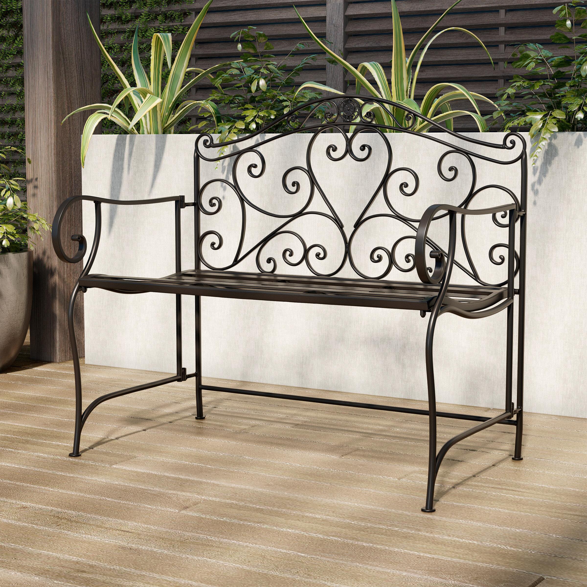 Outdoor Folding Bench | Wayfair