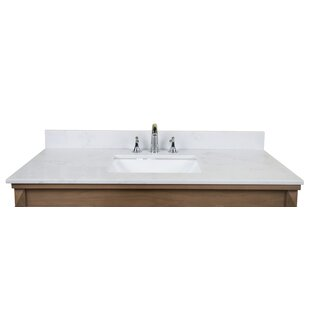 "Carrara Quartz 49"" Single Bathroom Vanity Top"
