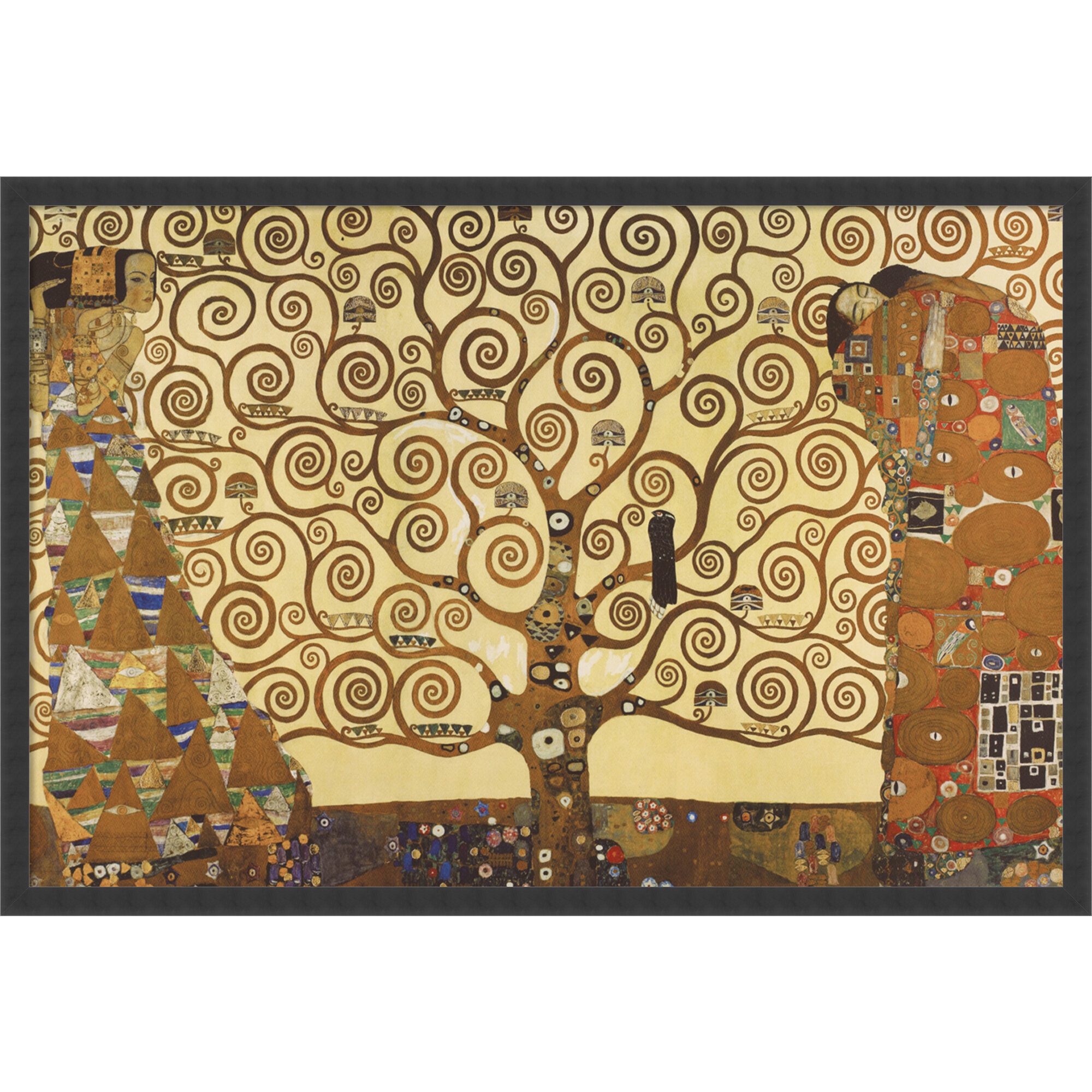 a722356b700 World Menagerie  The Tree of Life  by Gustav Klimt Framed Painting Print    Reviews