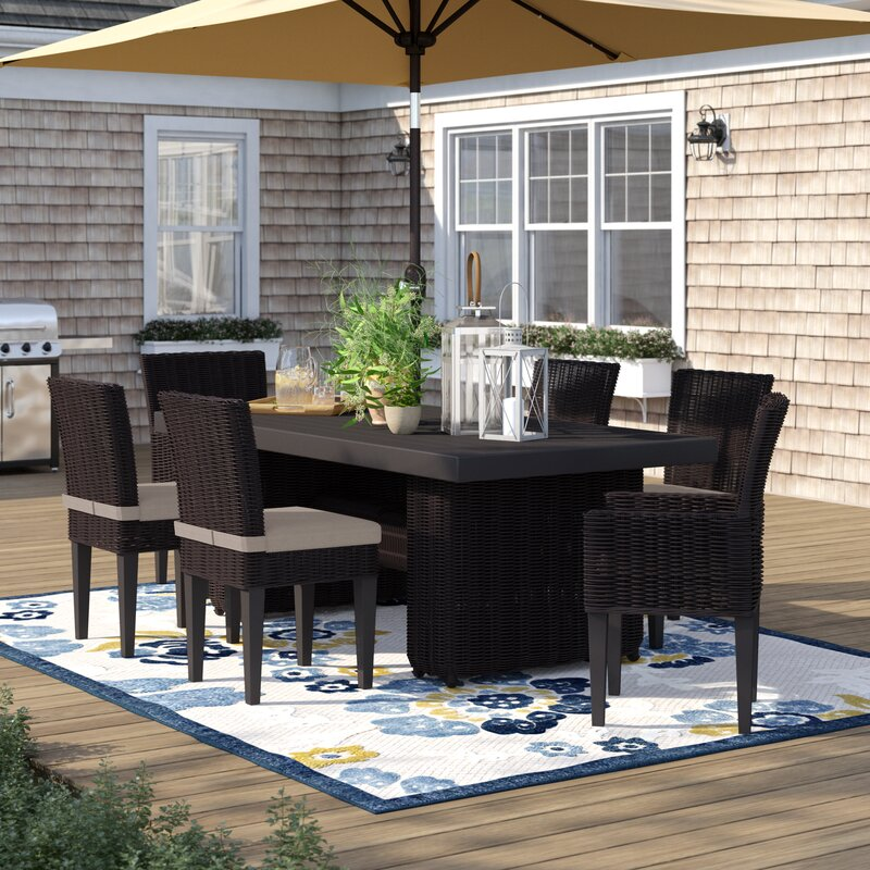 Fairfield 7 Piece Outdoor Patio Dining Set with Cushions & Fairfield 7 Piece Outdoor Patio Dining Set with Cushions   Birch Lane