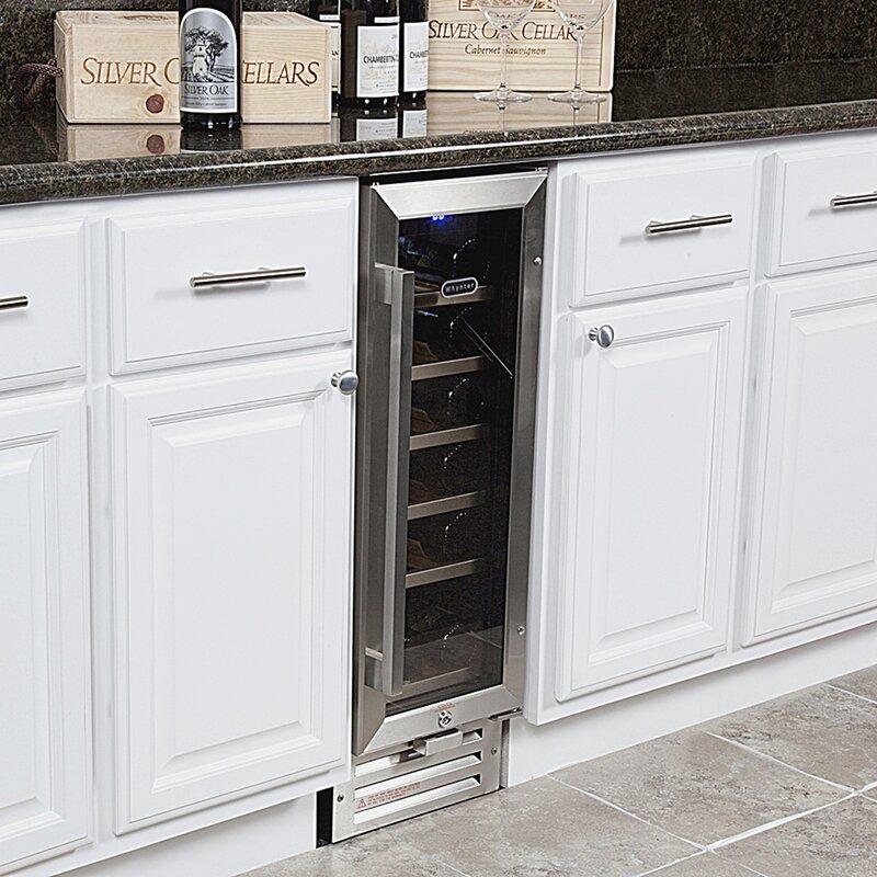 18 Bottle Single Zone Built In Wine Cooler