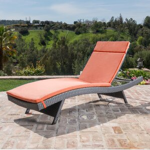 hans cagliari wicker chaise lounge with cushion