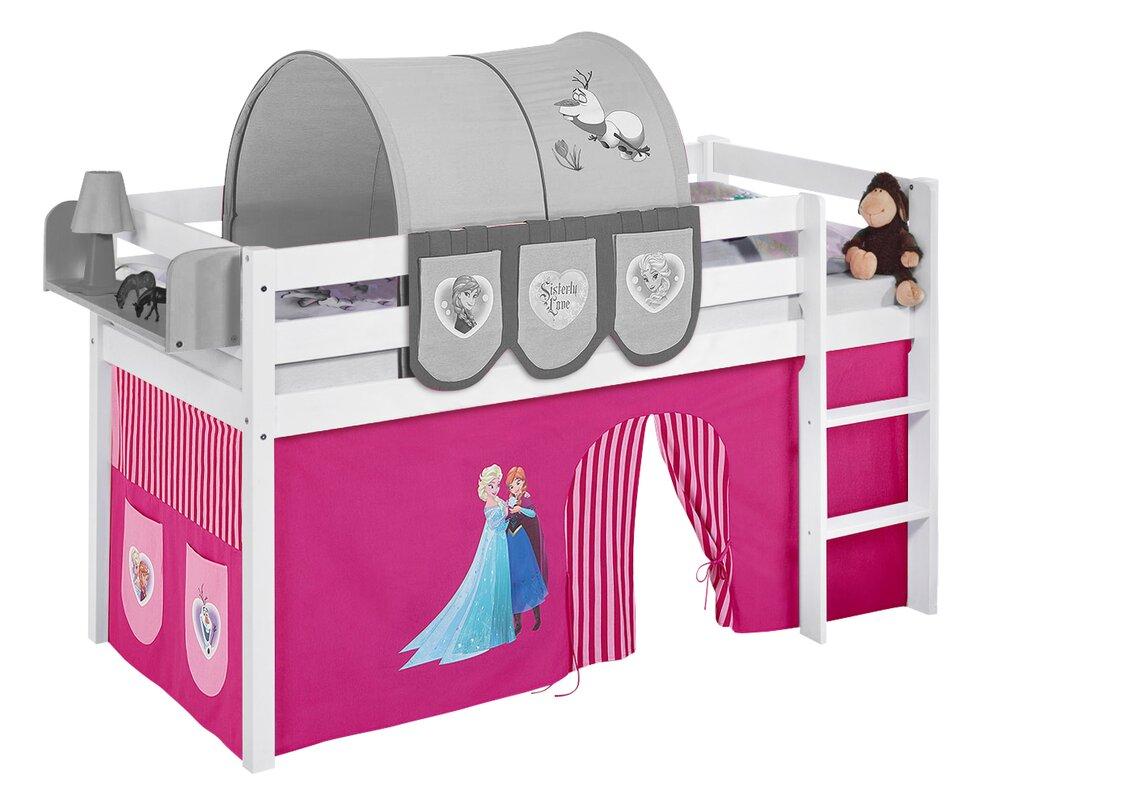lilokids hochbett disney 39 s frozen mit vorhang bewertungen. Black Bedroom Furniture Sets. Home Design Ideas