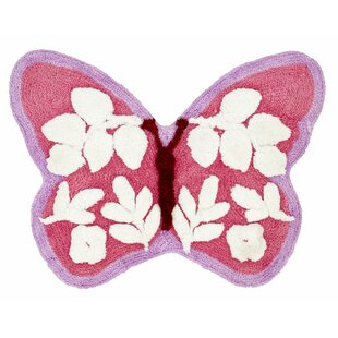 Butterfly Pink Rug by Catherine Lansfield