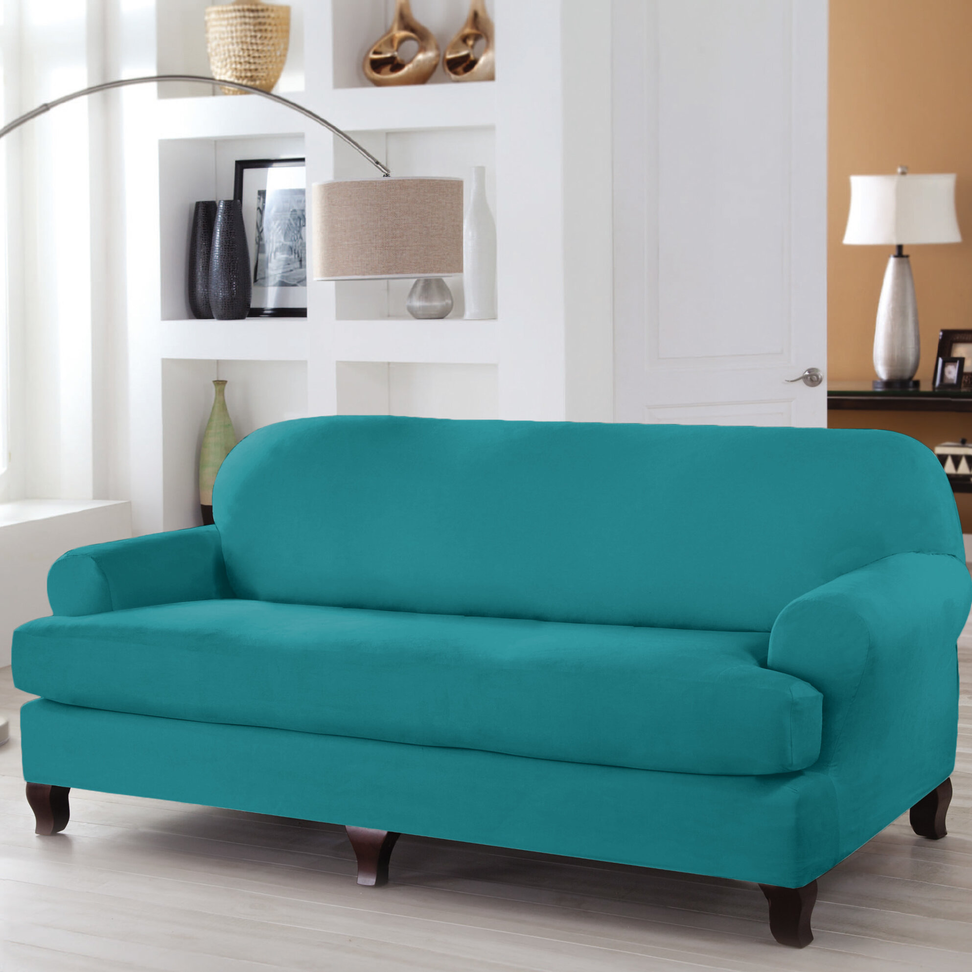Serta® Stretch Fit T-Cushion Sofa Slipcover