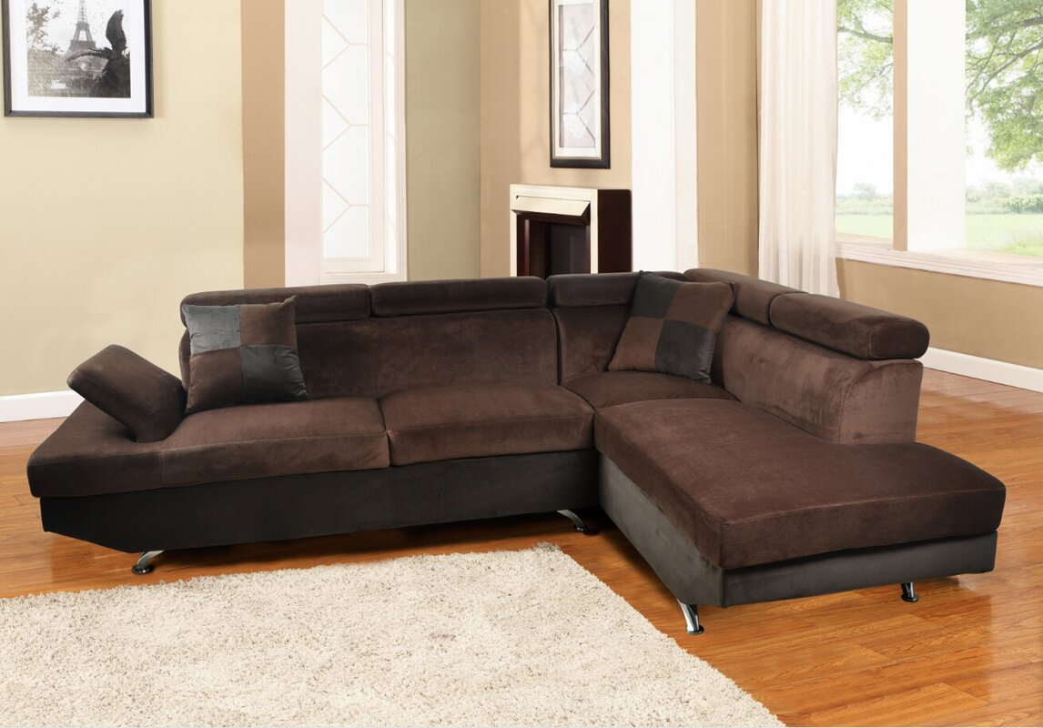 standard truemodern cube with marfa sectional corner sofa w