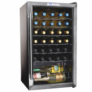 33 Bottle Single Zone Freestanding Wine Cooler by NewAir
