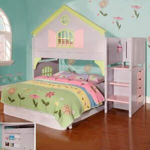 Dollhouse Twin Over Twin Bunk Bed by Discovery World Furniture