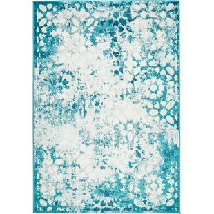 Best Price Brandt Turquoise/White Area Rug By Mistana
