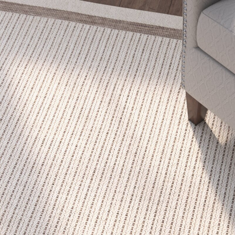 Acton Tan/Ivory Striped Indoor/Outdoor Area Rug & Reviews | Birch Lane