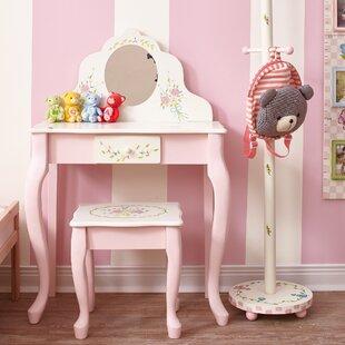 9687f38778c Bouquet 2 Piece Vanity Set with Mirror