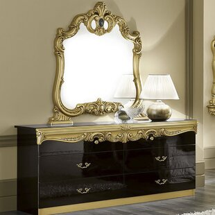 Straitson 6 Drawer Double Dresser With Mirror