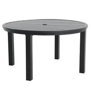 Round Slat Top Table