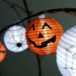 Pumpkin Halloween 10 Light LED String Lighting