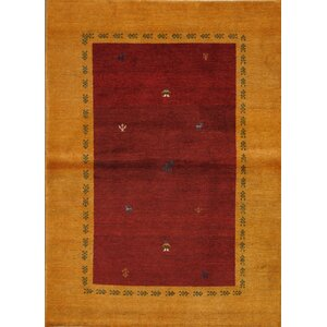 Gabbeh Hand-Knotted Red/Brown Area Rug