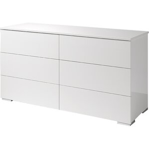 basic 6 drawer double dresser