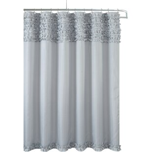 Gray And Aqua Shower Curtain | Wayfair