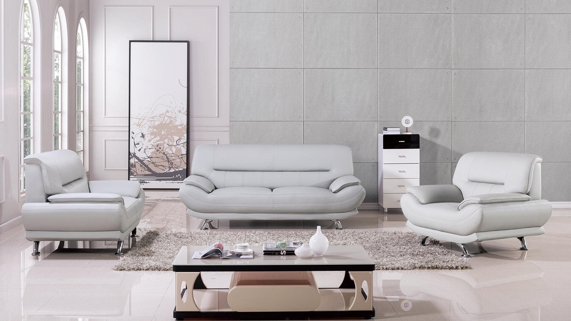 AmericanEagleInternationalTrading Mason 3 Piece Living Room Set ...