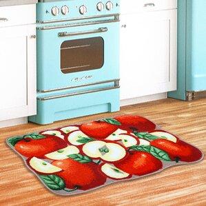 Apple Slice Kitchen Red/Green Area Rug