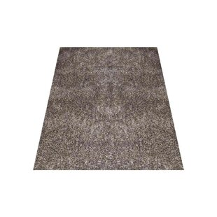 Best Sanford Solid Hand-Woven Silver White Area Rug By Ebern Designs