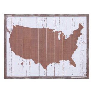 United States Map Framed Wayfair