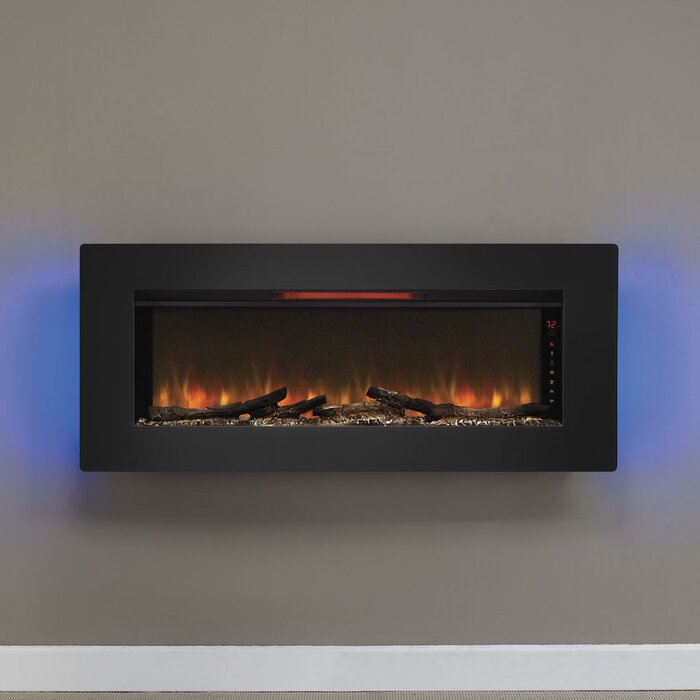 steel fireplace northwest multiple panel electric black mount wall glass stainless pictures installation