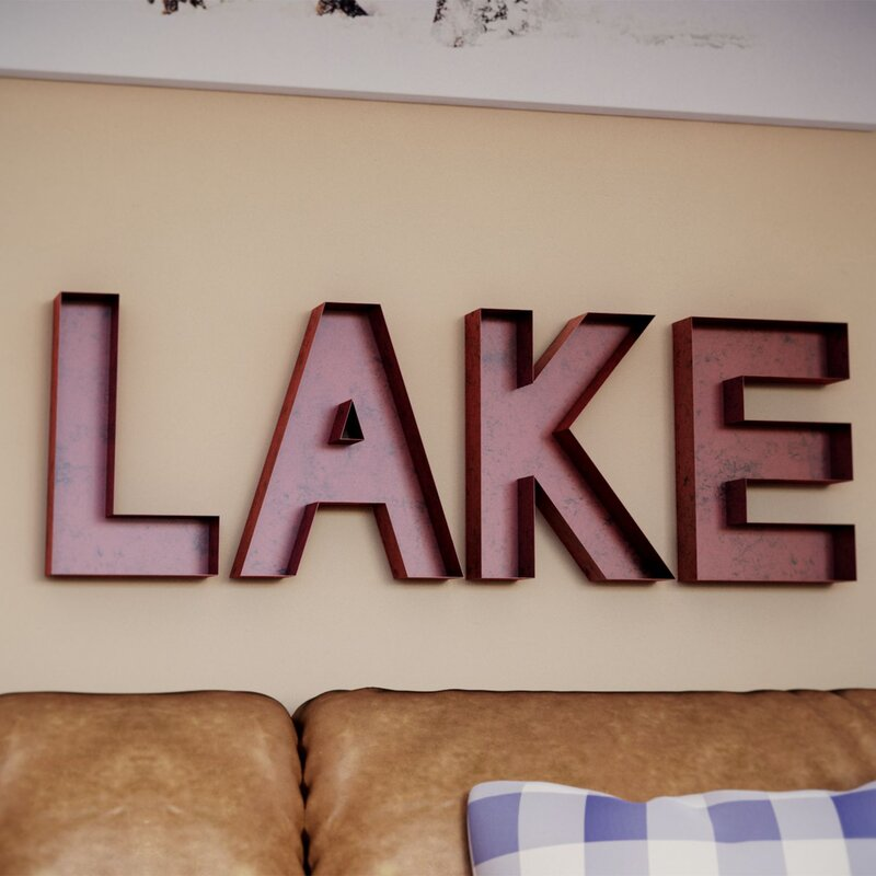 Loon Peak New Cordell Lake Letters Wall Décor & Reviews | Wayfair