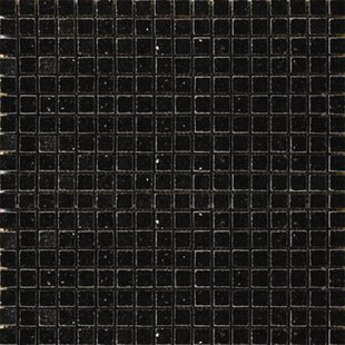 0 625 X Granite Mosaic Tile In Black Galaxy