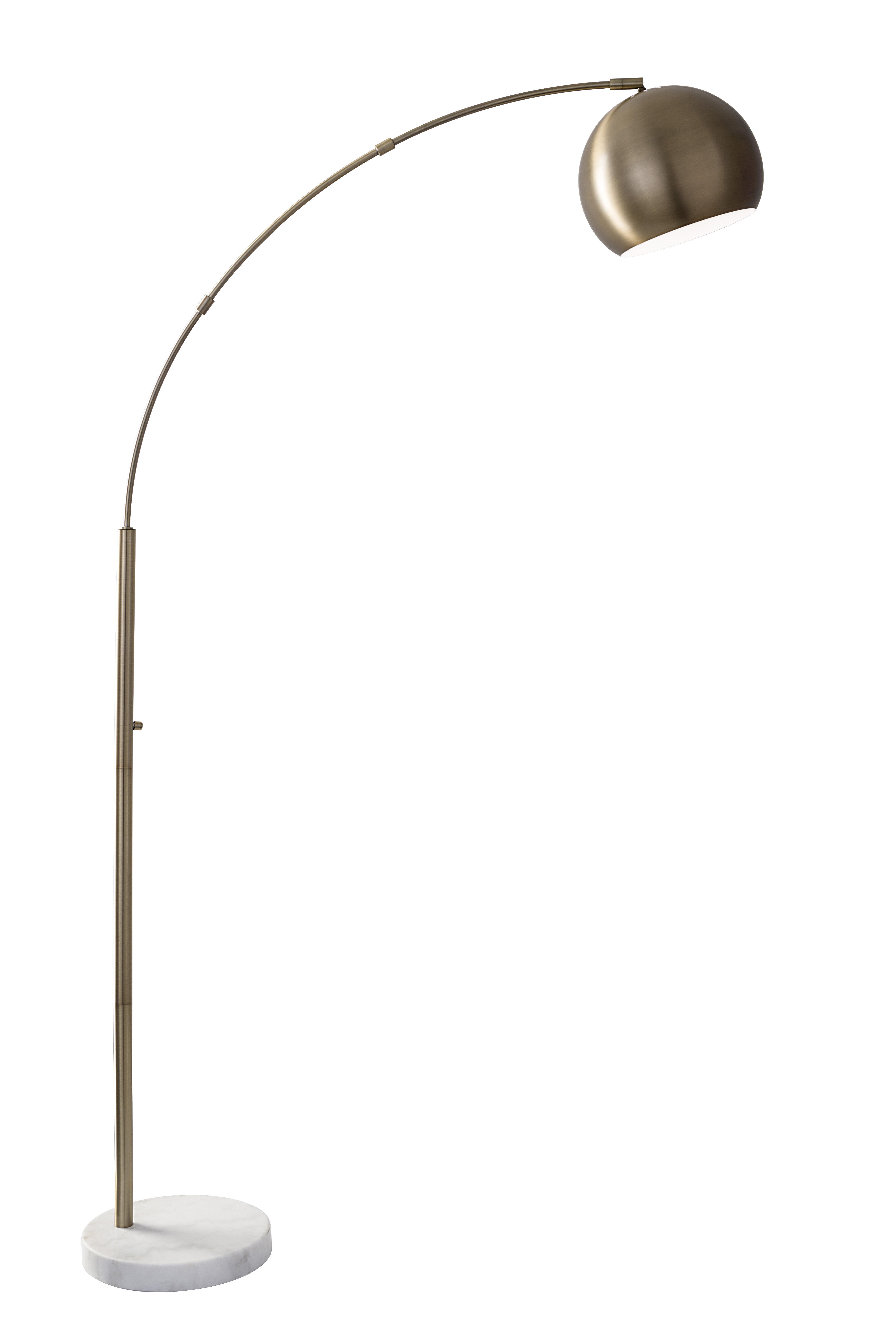 index brushed ok arch nickel lamp lighting avant floor