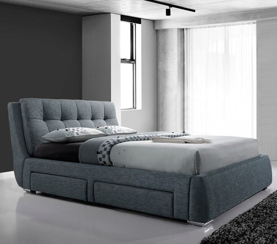 Home Loft Concept Cielo Upholstered Storage Bed Frame