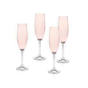 3ecd16753530 Pink Champagne Glasses & Flutes You'll Love | Wayfair