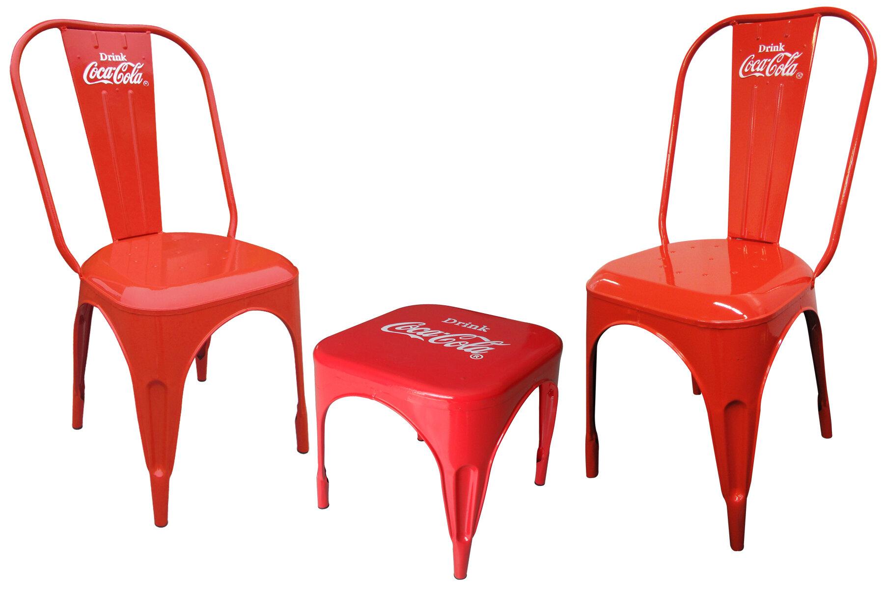LeighCountry Coca-Cola Retro Café 3 Piece Bistro Set | Wayfair