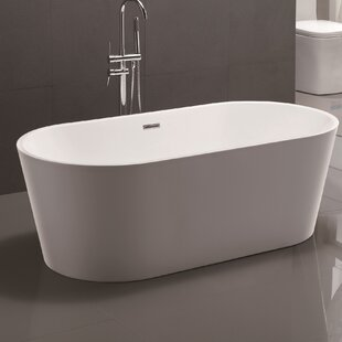 most comfortable freestanding tub. 59  X 29 5 Freestanding Soaking Bathtub Small Tub Wayfair